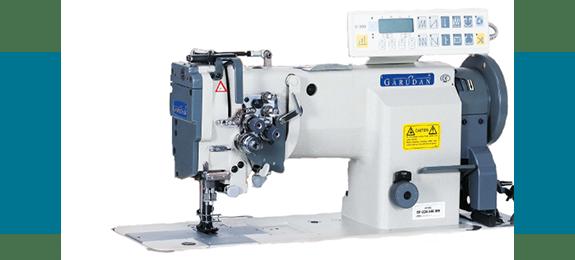 Прямострочная 2-игольная швейная машина Garudan с унисонным (тройным) продвижением серии GF-234