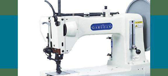 Одноигольная плоская машина Garudan с верхним и нижним продвижением для очень тяжелых материалов серии GF-135/L41